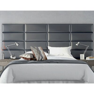 Bernardsville Upholstered Headboard Panels Size: 46 H x 39 W x 2.5 D, Upholstery: Deluxe Leather Greystone