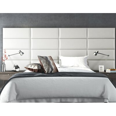 Bernardsville Upholstered Headboard Panels Size: 46 H x 39 W x 2.5 D, Upholstery: Deluxe Leather Cream White