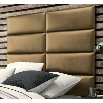 Calahan Upholstered Headboard Panels Size: 46 H x 39 W x 2.5 D, Upholstery: Metallic Gold