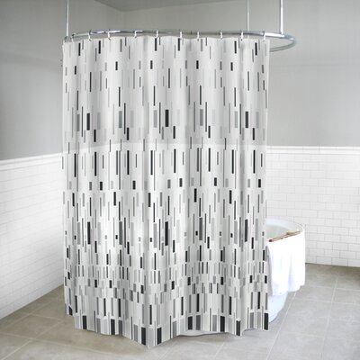 Calamus EVA Bars Shower Curtain Color: Gray