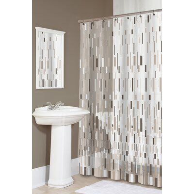 Dreyer EVA Bars Shower Curtain Color: Beige