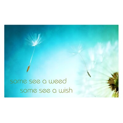 'Some See a Weed Some See a Wish' Graphic Art on Metal