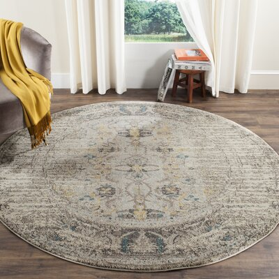 Hydra Brown/Green Area Rug Rug Size: Round 9