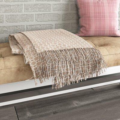 Bedoya Cotton Throw Blanket Color: Pink