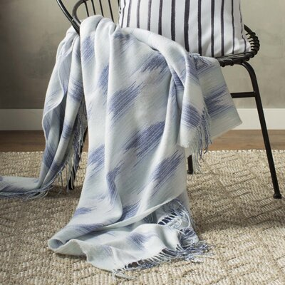 Zenon Cotton Throw Blanket Color: Gray / Blue