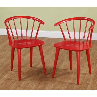Mcdaniels Arm Chair Finish: Red