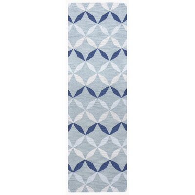 Marlee Hand-Tufted Blue Area Rug Rug Size: Rectangle 5 x 8