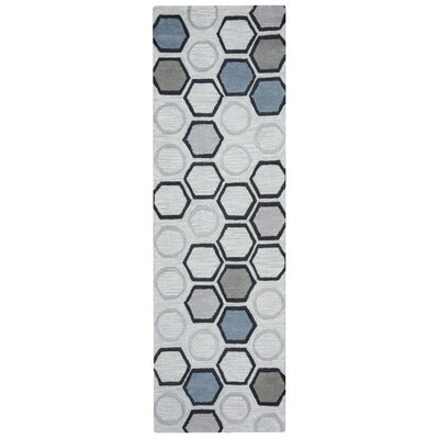 Marleigh Hand-Tufted Light Gray Area Rug Rug Size: Runner 26 x 8