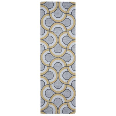 Marlee Hand-Tufted Gray Area Rug Rug Size: Runner 26 x 10