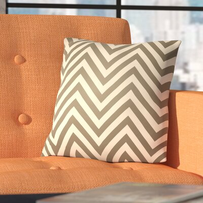 Plato Indoor/Outdoor Throw Pillow Color: Gray, Size: 18 H x 18 W x 4 D