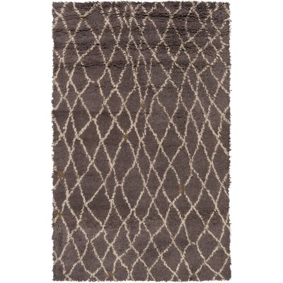 Blythe Charcoal Area Rug Rug Size: Rectangle 5 x 8