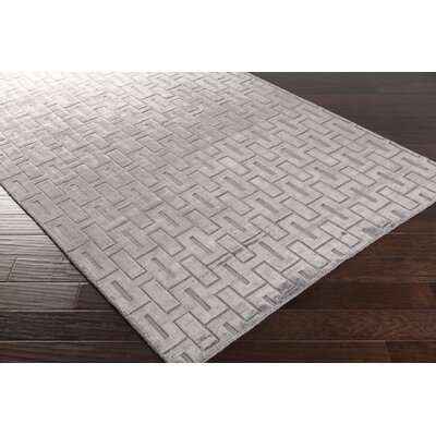 Ines� Handmade Gray Area Rug Rug Size: Rectangle 33 x 53
