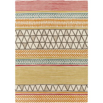 Julienne Hand-Tufted Burnt Orange Area Rug Rug size: Rectangle 33 x 53