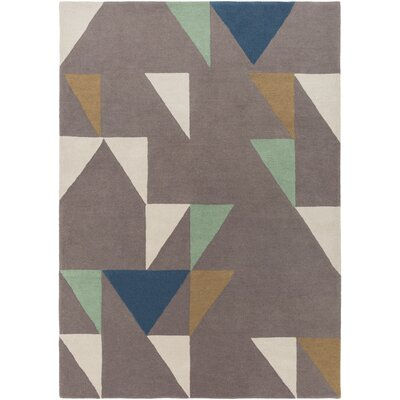 Julienne Hand-Tufted Camel Area Rug Rug size: Rectangle 5 x 8