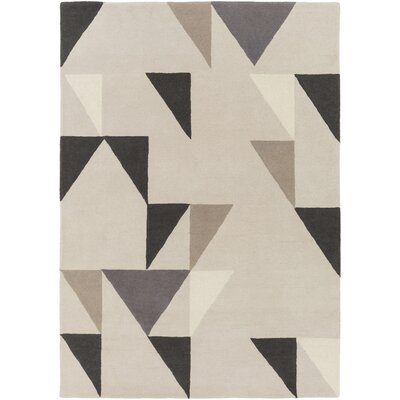 Julienne Hand-Tufted Cream Area Rug Rug size: Rectangle 5 x 8