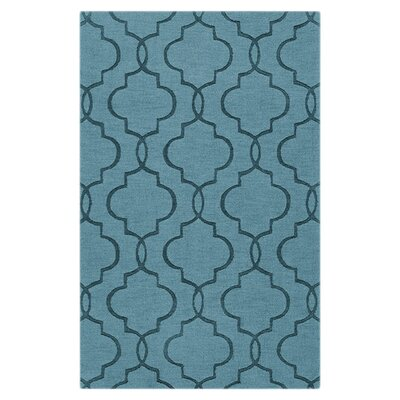 Vasques Slate Blue Area Rug Rug Size: Rectangle 33 x 53
