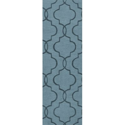 Vasques Slate Blue Area Rug Rug Size: Runner 26 x 8