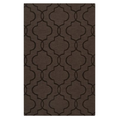 Vasques Dark Brown Area Rug Rug Size: 5 x 8