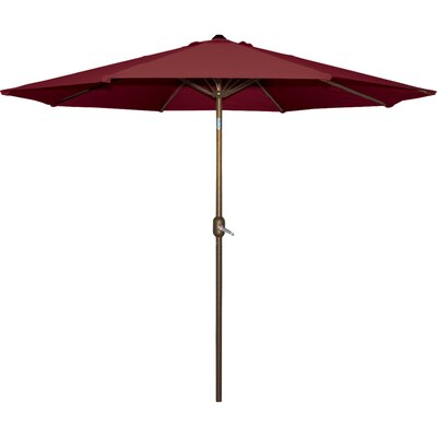 Cornelius 9 Market Umbrella Fabric: Burgundy