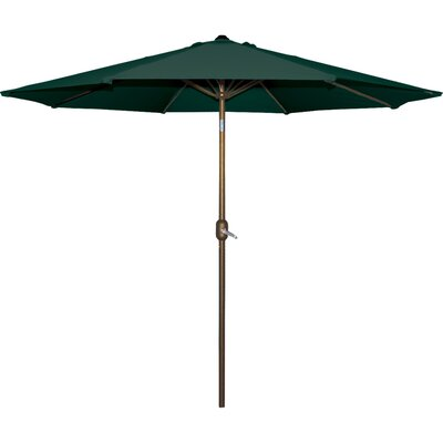Cornelius 9 Market Umbrella Fabric: Hunter Green