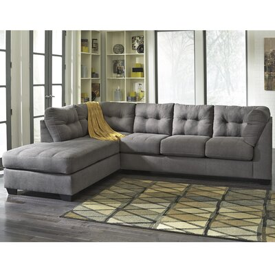 Cornett Sectional Upholstery: Charcoal, Orientation: Left Arm Facing