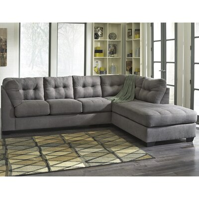 Cornett Sectional Upholstery: Charcoal, Orientation: Right Arm Facing