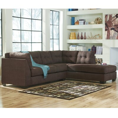 Cornett Sectional Upholstery: Walnut, Orientation: Right Arm Facing