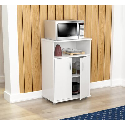 Hyland Microwave Cart with Wood Top