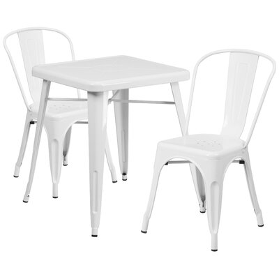 Corpus 3 Piece Bistro Set Finish: White