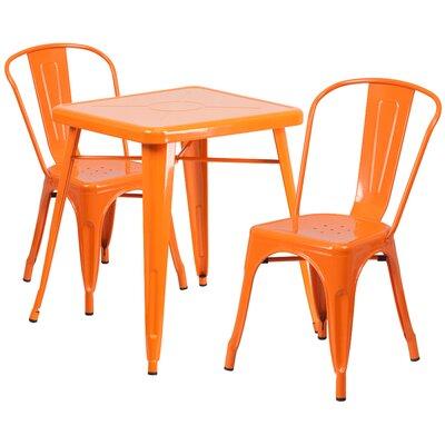Corpus 3 Piece Bistro Set Finish: Orange