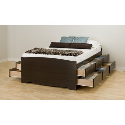 Norristown Storage Platform Bed Size: Full, Color: Black