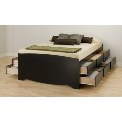 Valerio Storage Platform Bed Size: Full, Finish: Black