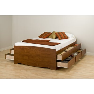 Valerio Storage Platform Bed Size: Full, Finish: Cherry