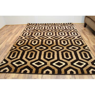 Carrizales Brown Indoor/Outdoor Area Rug Rug Size: 5 x 7