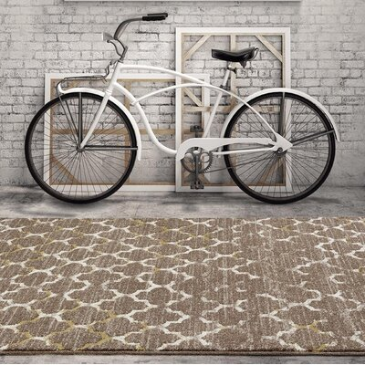 Merilyn Beige Indoor/Outdoor Area Rug Rug Size: 52 x 72
