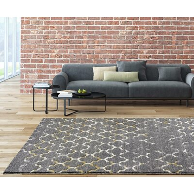 Merilyn Gray Indoor/Outdoor Area Rug Rug Size: 52 x 72