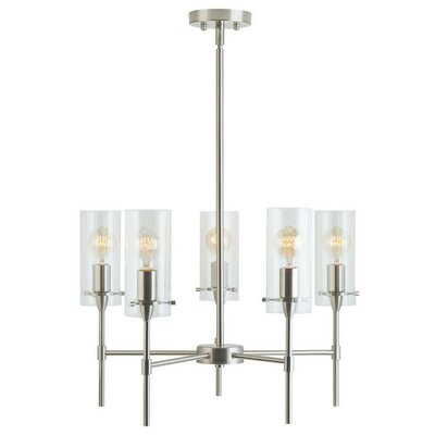 Angelina 5-Light Candle-Style Chandelier