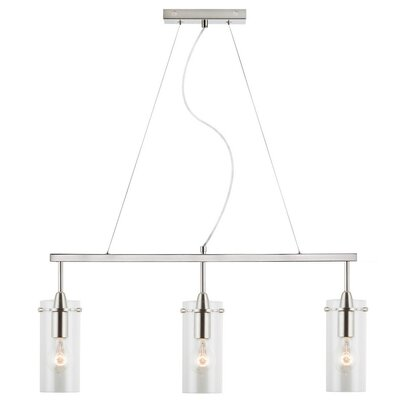 Angelina 3-Light Kitchen Island Pendant Size: Small