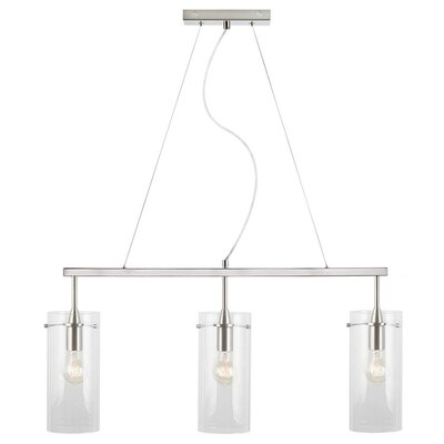 Angelina 3-Light Kitchen Island Pendant Size: Large