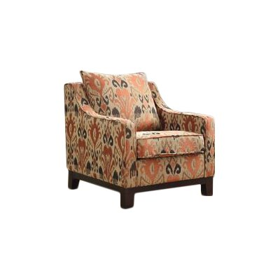 Cortina Polyester Club Chair Color: Rust