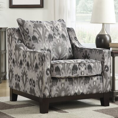 Cortina Polyester Club Chair Color: Onyx
