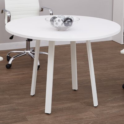 Checketts Circular 29.5H x 42W x 42L Conference Table Finish: White