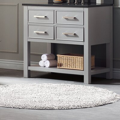 Cortland 36 Double Bathroom Vanity Base Base Finish: Chilled Gray