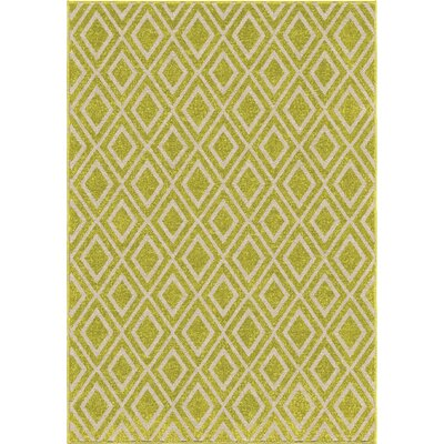 Norwood Green/Ivory Area Rug Rug Size: 52 x 76
