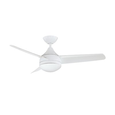 42 Copland 3 Blade Ceiling Fan with Wall Remote Finish: White