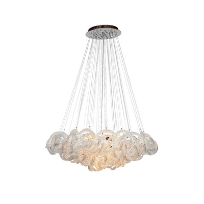 Cosenza 13-Light Cluster Pendant Finish: Clear