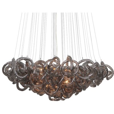 Cosenza 13-Light Cluster Pendant Finish: Metallic Silver