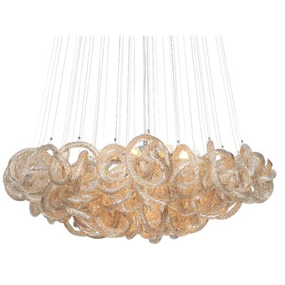 Cosenza 13-Light Cluster Pendant Finish: Champagne