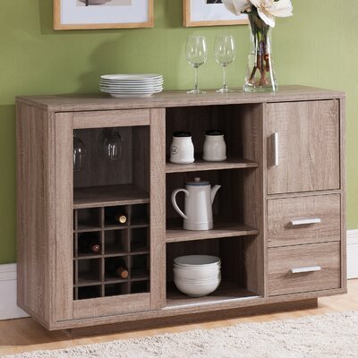Dania Dining Server Color: Weathered Wood