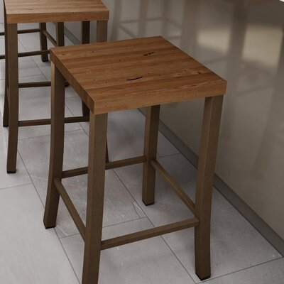 Athanas 24 Bar Stool Color: Hammered Medium Brown/Medium Brown